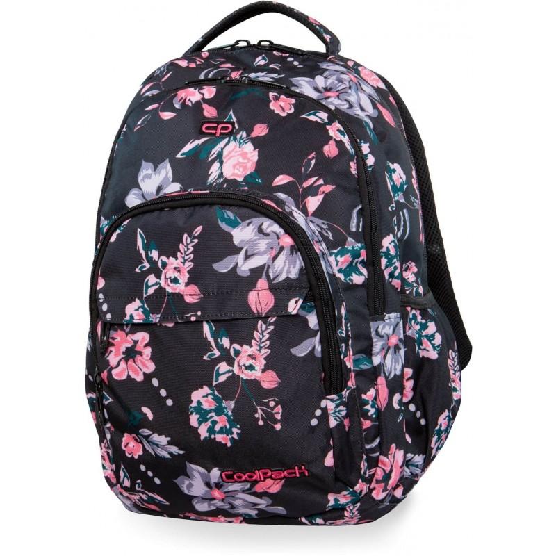 c7cf1a01db5c4 Plecak młodzieżowy CoolPack CP BASIC PLUS DARK ROMANCE czarny w kwiaty