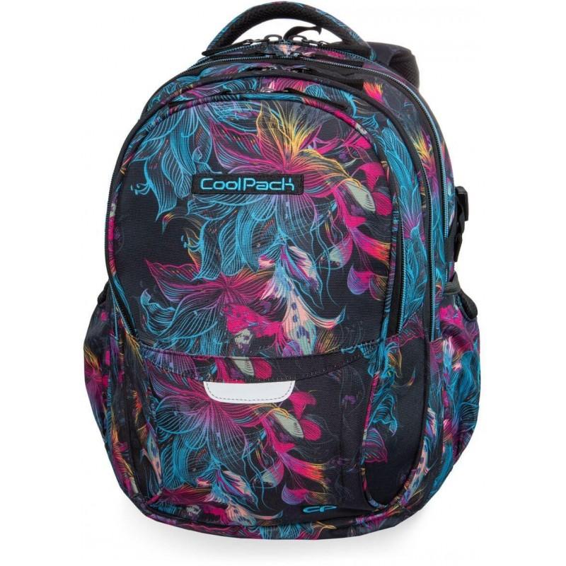 70beed44b0e53 Plecak młodzieżowy CoolPack CP FACTOR VIBRANT BLOOM iluzja w kwiaty - 4  przegrody