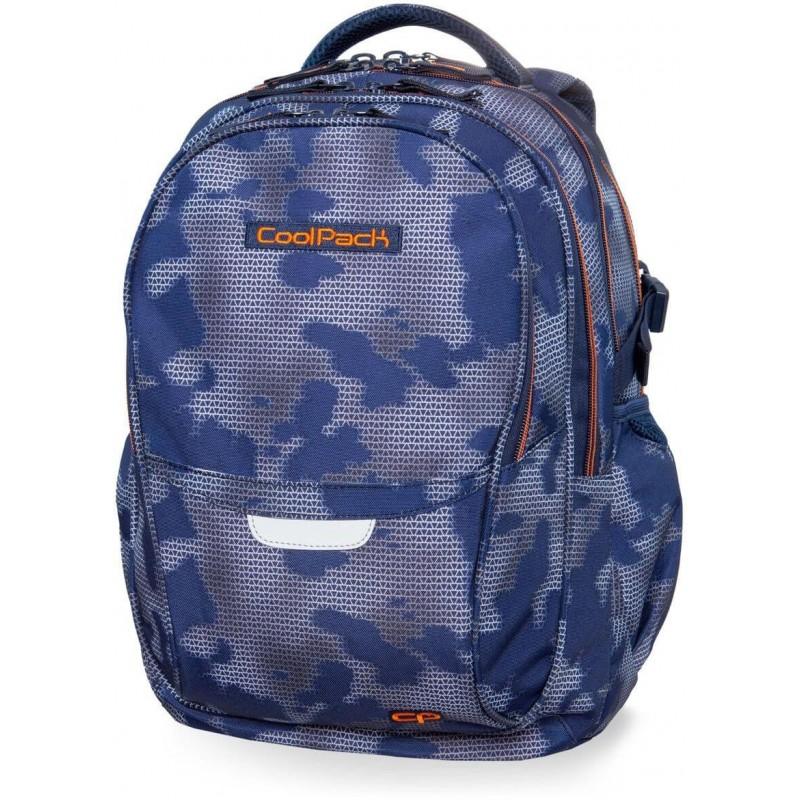 b4c830fe1ff20 Plecak młodzieżowy CoolPack CP FACTOR MISTY TANGERINE niebieska mgła - 4  przegrody