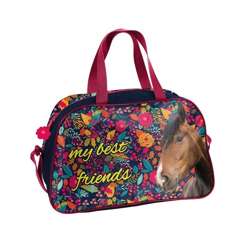324d043f545c5 Kolorowa torba na basen z koniem sportowa dla dziewczynki
