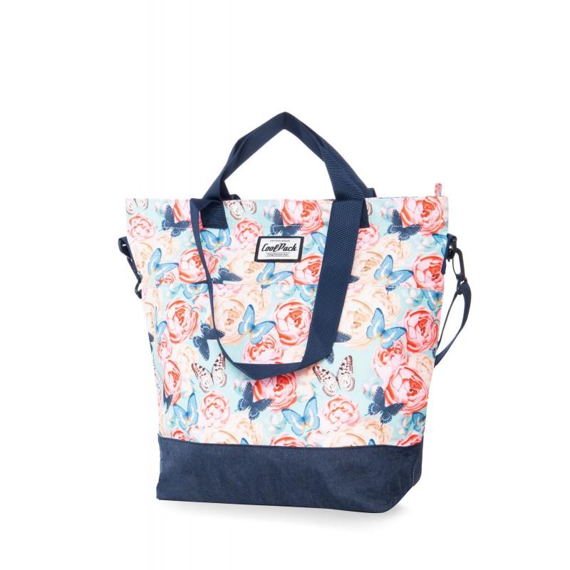 46f843ecf1add Kolorowa torba shopper damska róże i motyle CoolPack Butterflies Soho