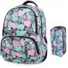 Plecak szkolny CoolPack SPINER + saszetka trzykomorowa PRIMUS MINTY HEARTS
