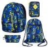 Plecak szkolny Coolpack PRIME + piórnik trzykomorowy JUMPER 3 + worek VERT FOOTBALL BLUE + GRATIS