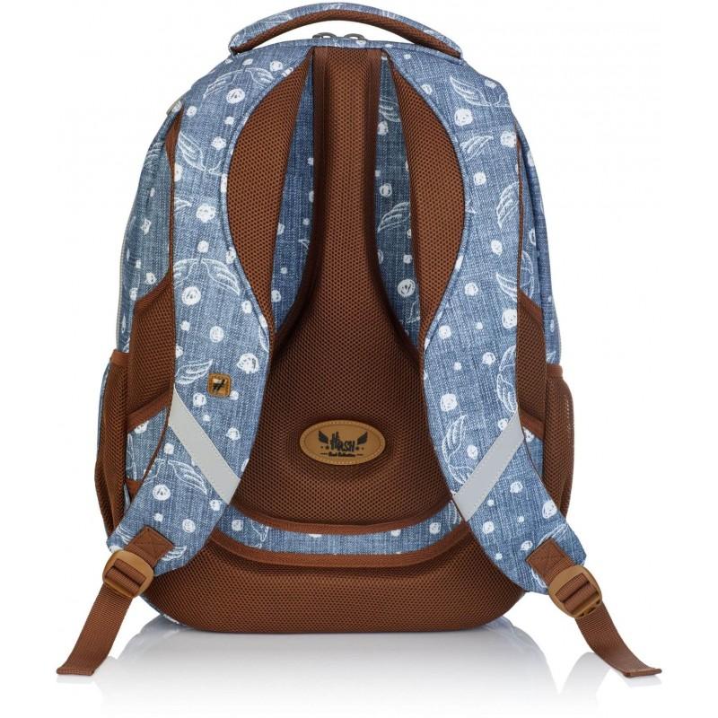 9507574bebcaa ... Wygodny plecak szkolny ze skrzydłami dla dziewczyny Hash HS-120 ·  Jeansowy ...