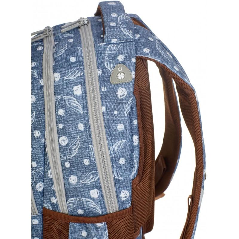 1218469fc4c1b ... Jeansowy plecak szkolny ze skrzydłami dla dziewczyny Hash HS-120 port  na słuchawki