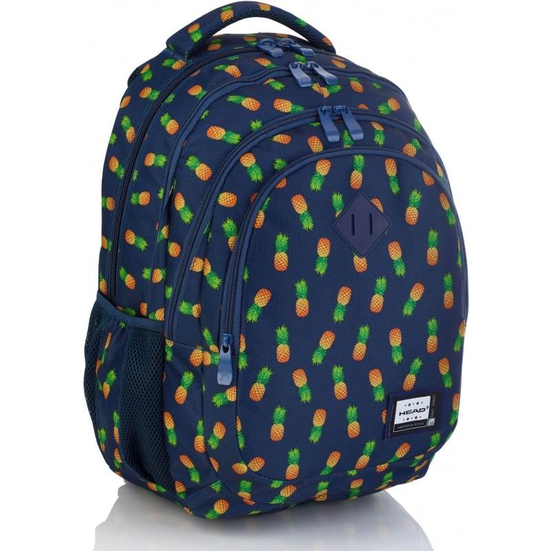90bcc23629f4e Granatowy plecak z ananasami do szkoły dla dziewczynki Head HD-252