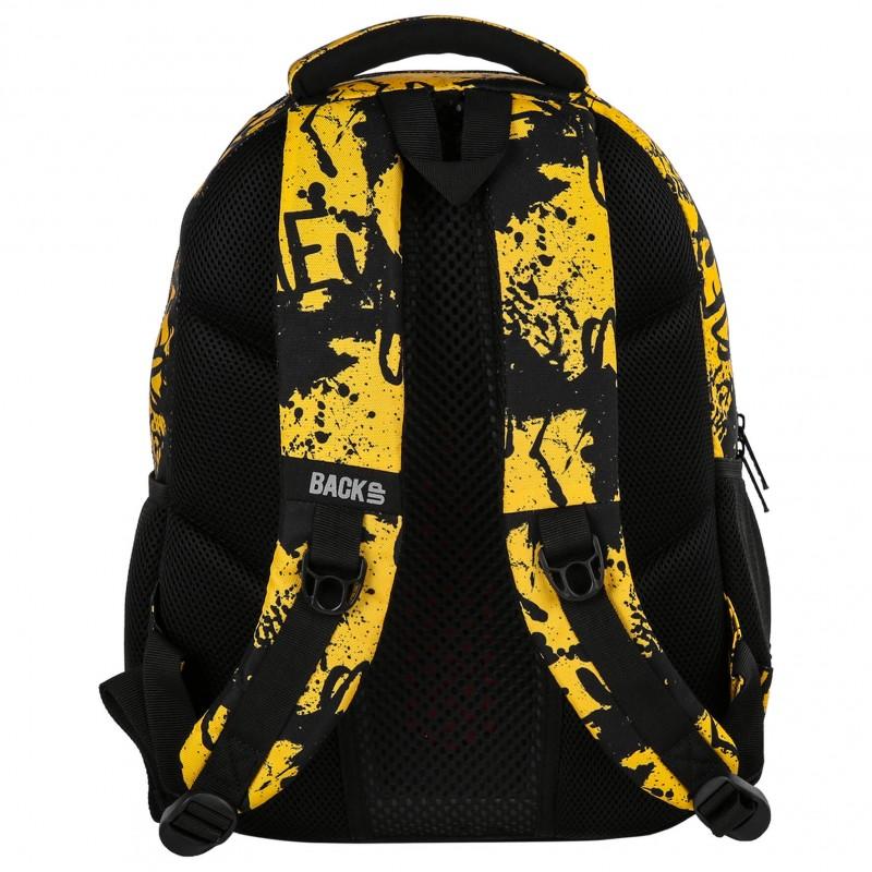 11d829d53ee32 ... Profilowany plecak szkolny młodzieżowy w plamy graffiti BackUP M43 ...