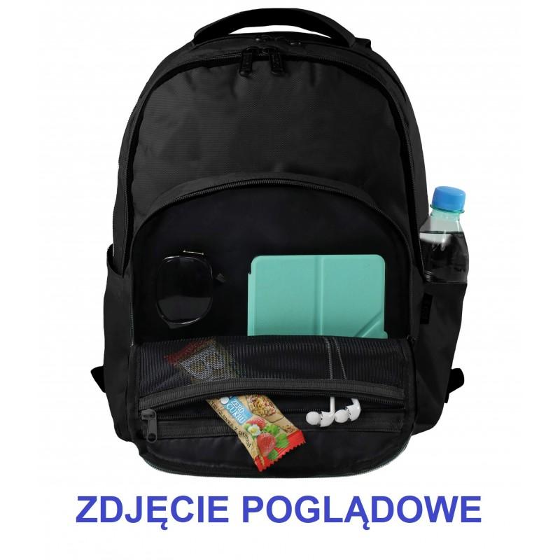 d5c6ec39a9d29 ... Musztardowy plecak szkolny młodzieżowy w plamy graffiti BackUP M43  środek 3