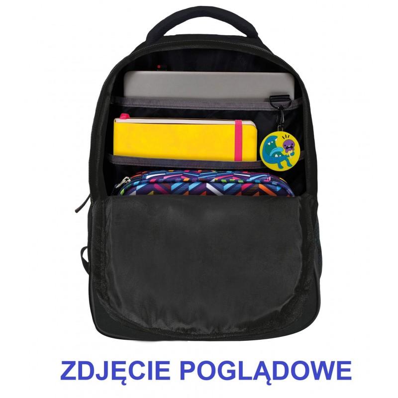 8605fccb592d7 ... Plecak szkolny młodzieżowy w panterkę z uszami dla dziewczyny BackUP  X91 KOMORY ...
