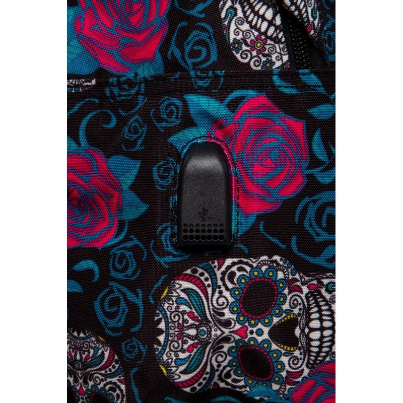 ea095e65b658c ... Plecak młodzieżowy meksykański czaszki CoolPack Skulls & Roses Break  wyjście USB ...