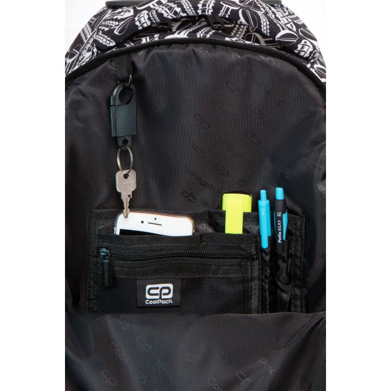 f2079a0642745 ... Plecak na kółkach w śrubki dla chłopca szkolny CoolPack Screws Junior z  organizerem