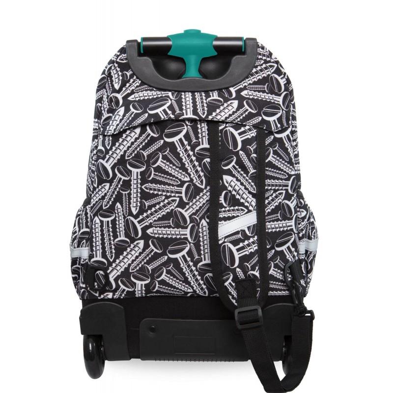 990d374c1f10e ... Czrano-biały plecak na kółkach dla chłopca szkolny CoolPack Screws  Junior ...