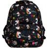 Plecak jednorożce młodzieżowy ST.RIGHT UNICORNS czarny z jednorożcami BP07