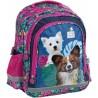 Plecak szkolny z pieskiem CLEO & FRANK psy i liście monstery