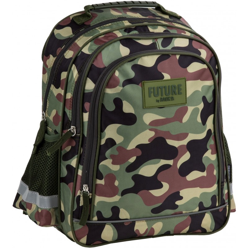 96818a1d04b72 Lekki plecak szkolny moro do 1 klasy dla chłopca Future By BackUP