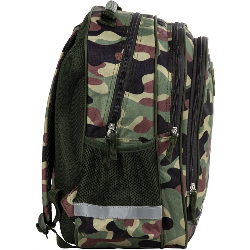 85a35b759fa1f ... Lekki dwukomorowy plecak szkolny moro do 1 klasy dla chłopca Future By  BackUP ...