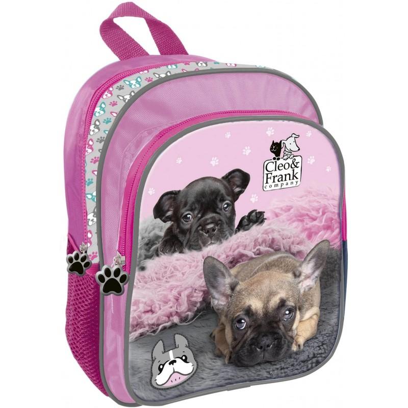 afed00ad84b52 Plecak dla dziecka do przedszkola z pieskiem CLEO & FRANK buldogi francuskie