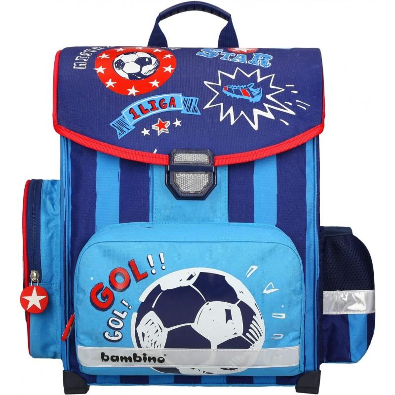 0922e505de0bb Tornister z piłką nożną dla chłopca do pierwszej klasy BAMBINO FOOTBALL