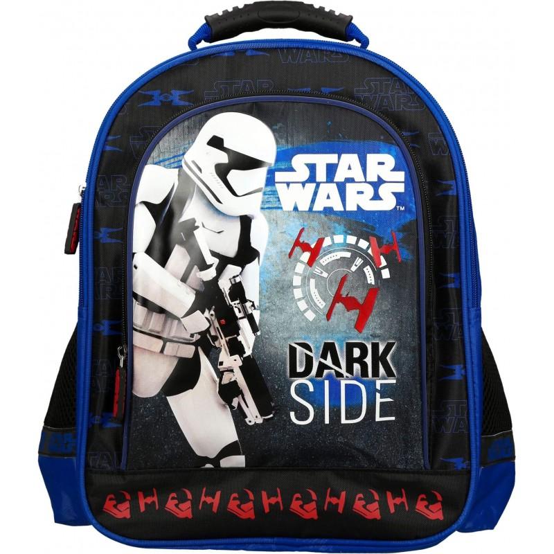 a159886021151 Plecak STAR WARS do szkoły do 1 klasy dla chłopca czarny i niebieski
