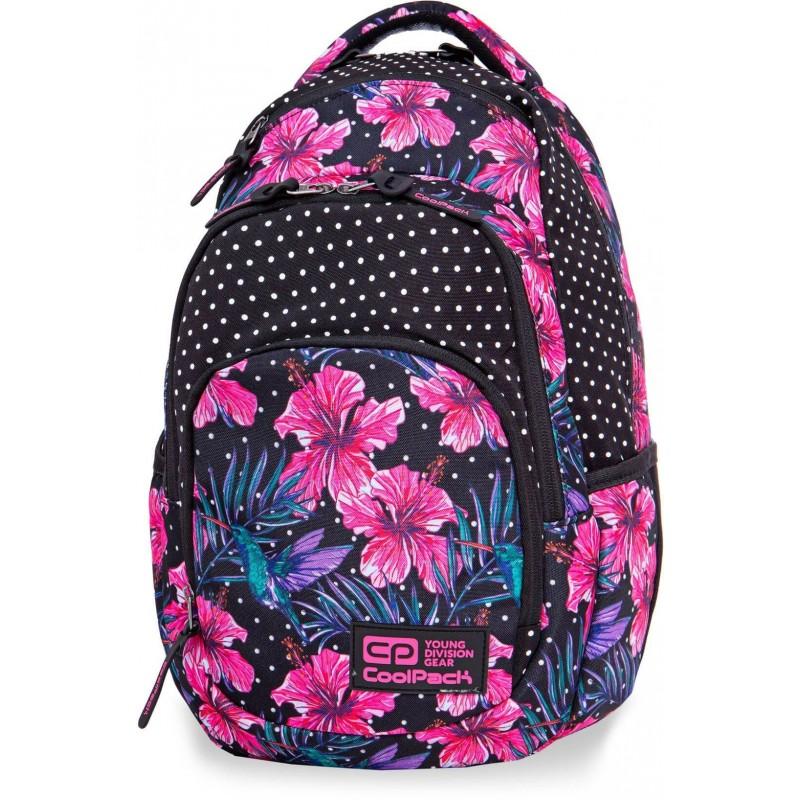616a12e758c1a Plecak młodzieżowy CoolPack CP VANCE BLOSSOMS różowy hibiskus LEKKI