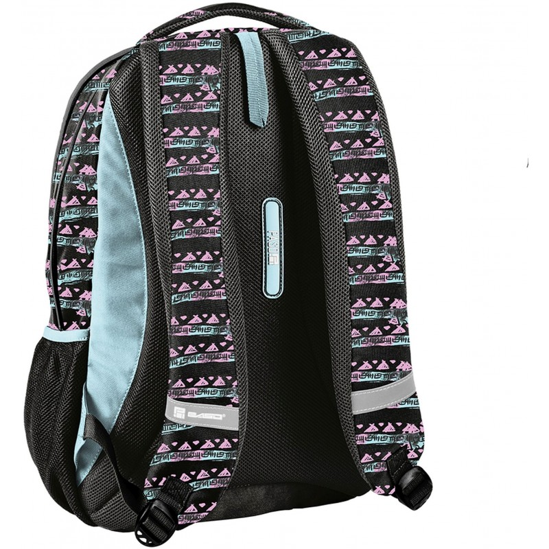703d71647a9bf ... Czarny plecak szkolny z profilowanymi plecami młodzieżowy z ananasem  Paso Maui ...