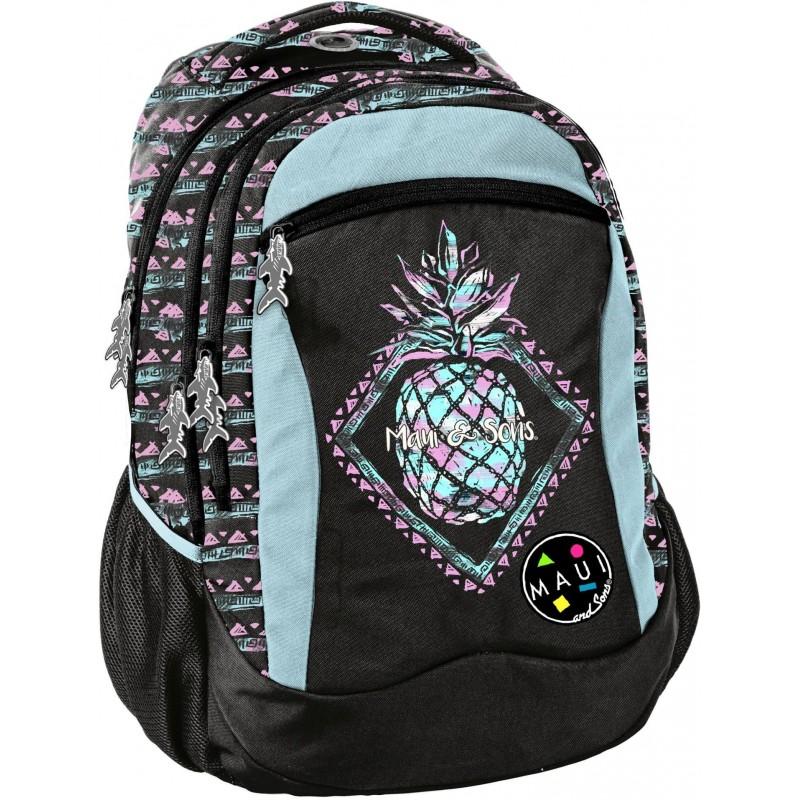 d030a35351a2f Czarny plecak z ananasem szkolny młodzieżowy z ananasem Paso Maui