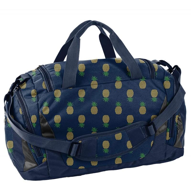 39e5fe92e4f07 ... Granatowa torba sportowa na basen w złote ananasy Paso dla dziewczyny