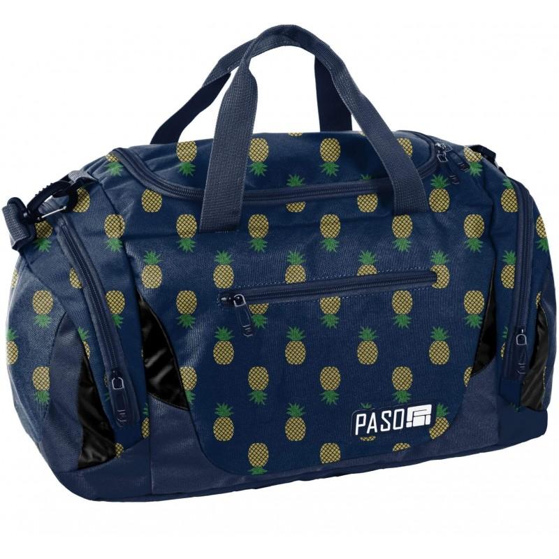 a402875b9f3e7 Modna torba sportowa na basen w złote ananasy Paso dla dziewczyny