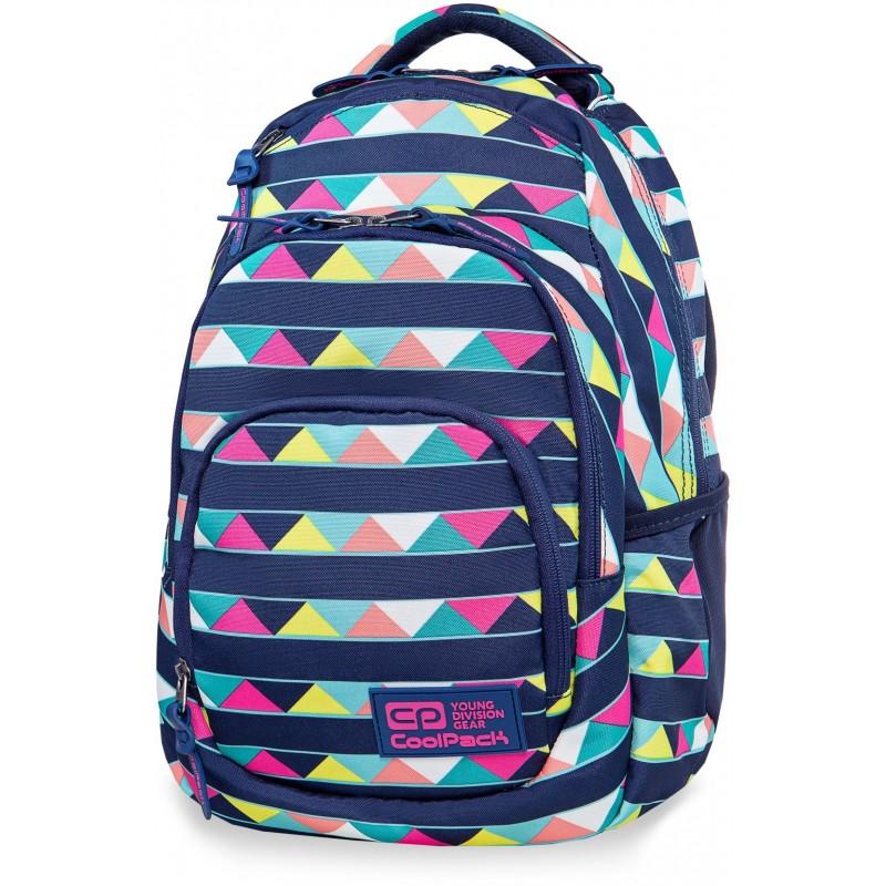 6995bb41a746a Lekki plecak szkolny w trójkąty dla dziewczyny CoolPack Cancun Vance