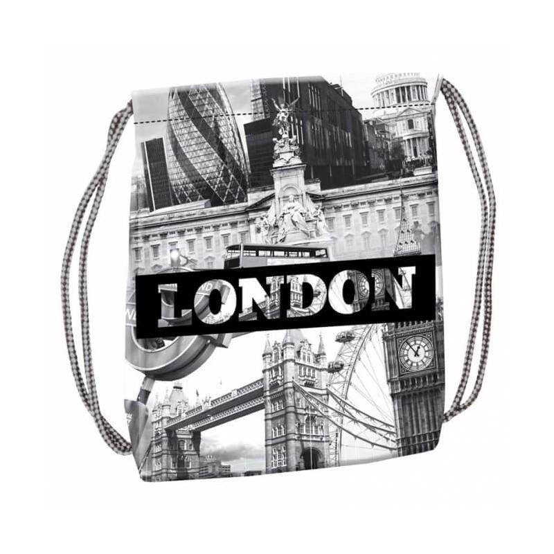 624fe598231c8 Czarno-biały worek na plecy na WF London Starpak miejski fullprint