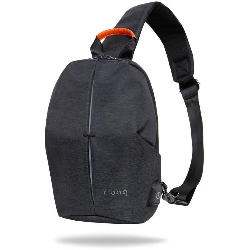 rozsądna cena autentyczny Nowe Produkty Plecak mały męski na jedno ramię r-bag Photon Black czarny z USB