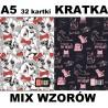 Zeszyt A5 ST.RIGHT 32 k. w kratkę MIX WZORÓW dla dziewczynek LOVELY PETS / CATS