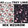 Zeszyt A5 ST.RIGHT 32 k. trzy linie MIX WZORÓW dla dziewczynek LOVELY PETS / CATS