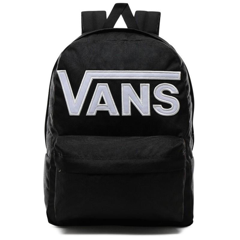 Plecak VANS OLD SKOOL III BLACK WHITE czarny z napisem VANS