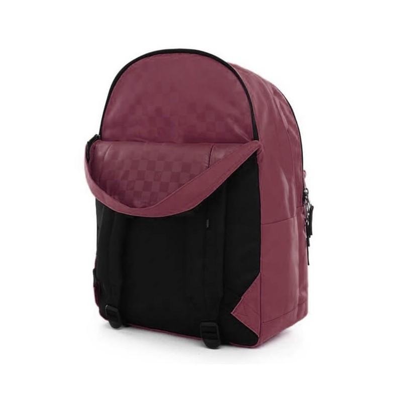 Plecak Vans do szkoły Schoolin It Prune bordowy trzykomorowy