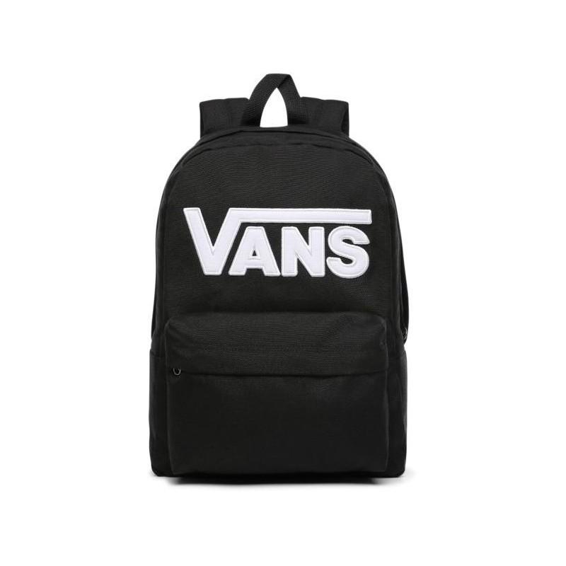 szczegółowy wygląd świetna jakość sklep internetowy Plecak VANS mały NEW SKOOL BLACK WHITE czarny z napisem VANS