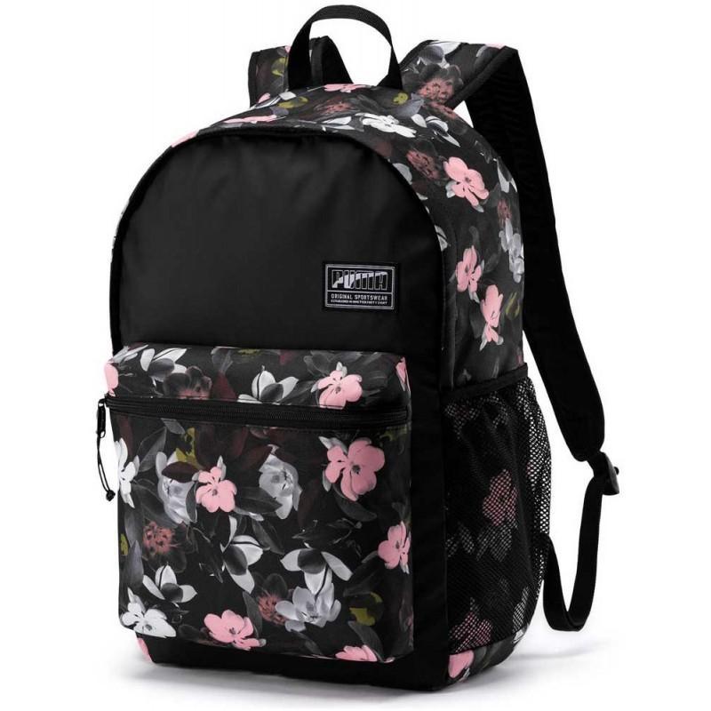 nowy autentyczny niesamowity wybór najbardziej popularny Plecak PUMA czarny w kwiaty Academy dla dziewczyny