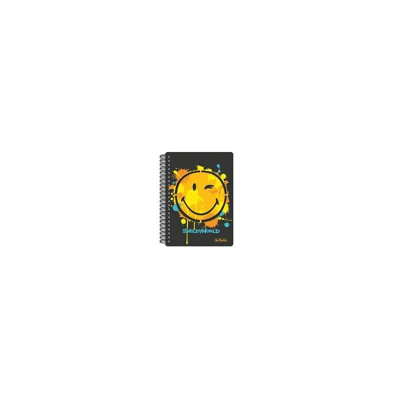 Brulion na spirali w twardej oprawie Smiley World