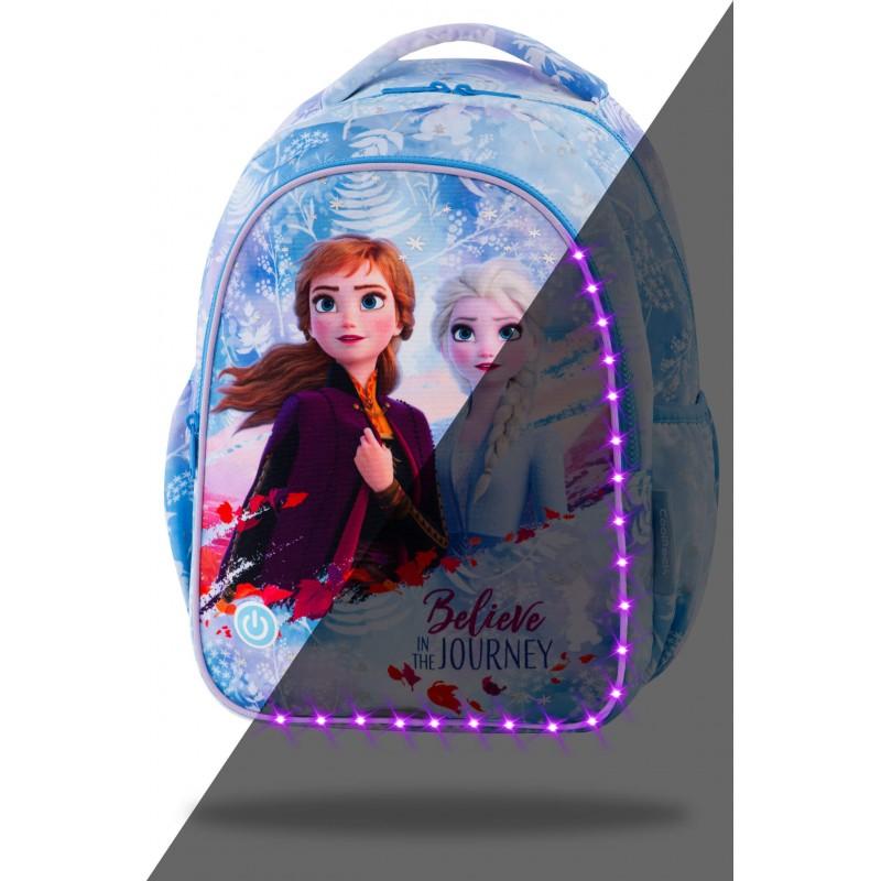 ŚWIECĄCY plecak szkolny dla dziewczynki FROZEN 2 Kraina Lodu CoolPack JOY S LED