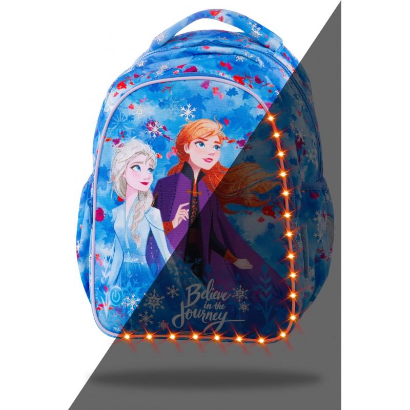 ŚWIECĄCY plecak szkolny do pierwszej klasy KRAINA LODU Frozen 2 CoolPack JOY S LED