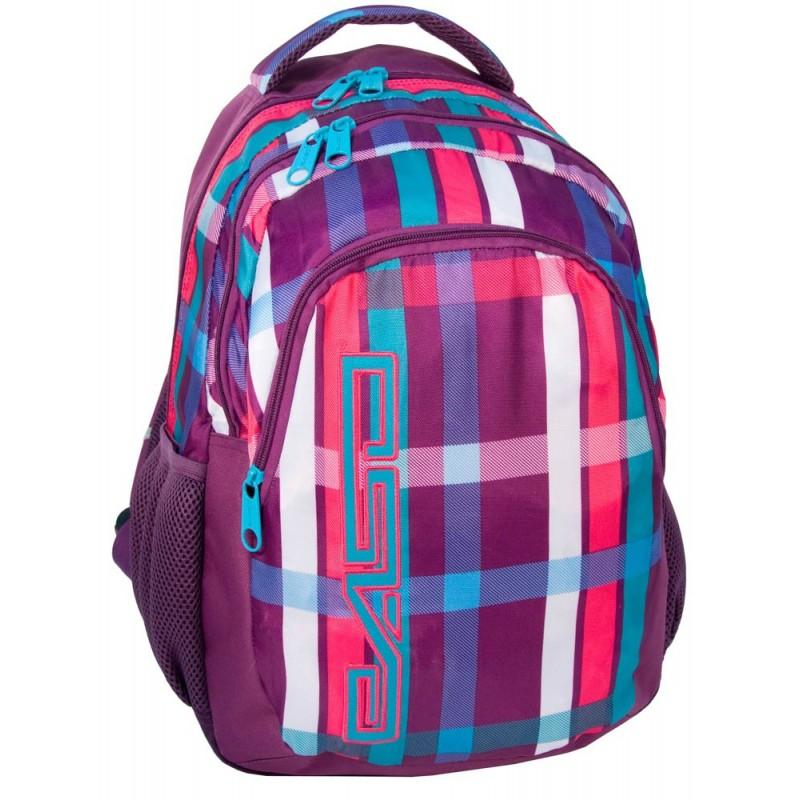 e1224f0b2e5d3 Plecak młodzieżowy kolorowy w kratkę - ePlecaki - do szkoły i na wakacje