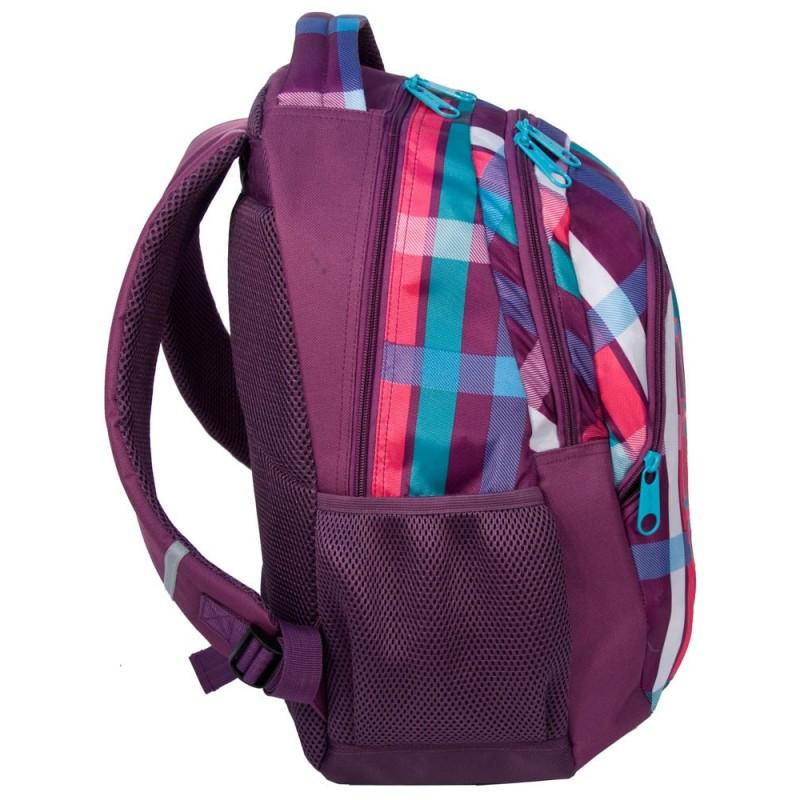 56b8d19304041 Plecak młodzieżowy kolorowy w kratkę  Plecak młodzieżowy kolorowy w kratkę  ...