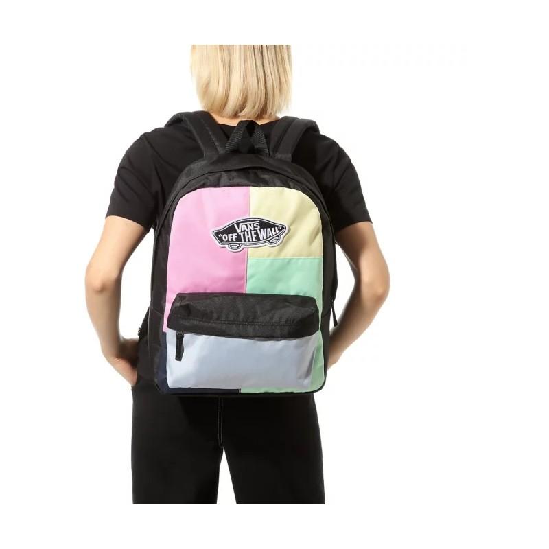 Plecak Vans kolorowy w kartkę Realm Checkwork pastelowy damski