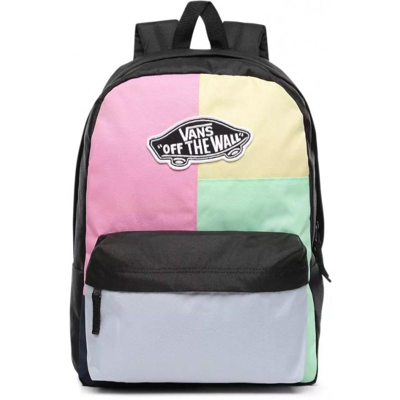 Plecak VANS REALM CHECKWORK w kratkę kolorowe łaty