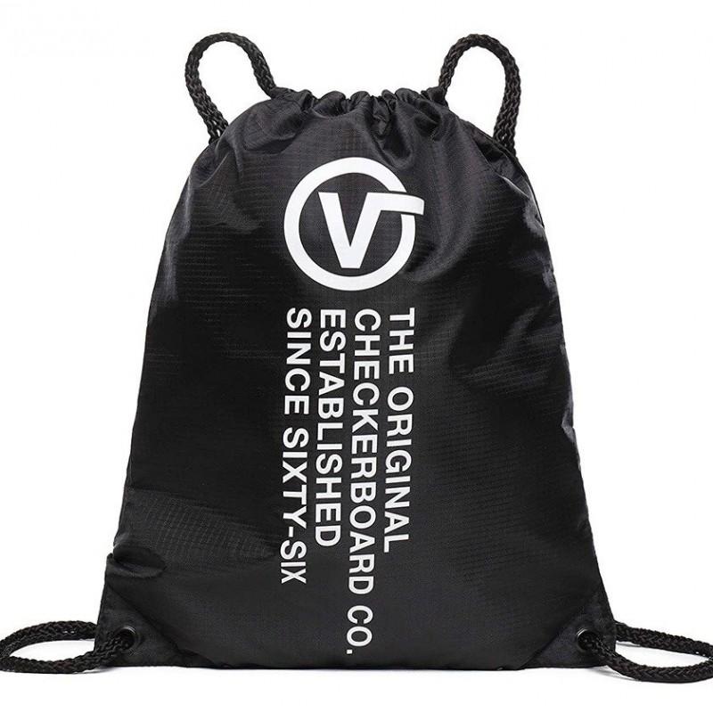 Worek plecak VANS LEAGUE BENCH BAG BLACK DISTORT czarny markowy z napisem