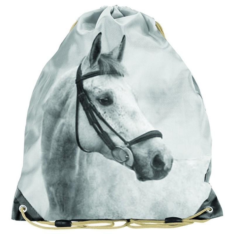 Worek Na Buty Lekki Z Koniem Bialy Paso Horse Szkolny Dla Dziewczynki