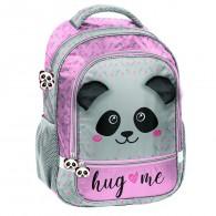 Plecak szkolny szary z pandą Paso dla dziewczynki Panda