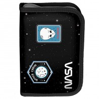 Piórnik szkolny NASA Paso UFO czarny bez wyposażenia