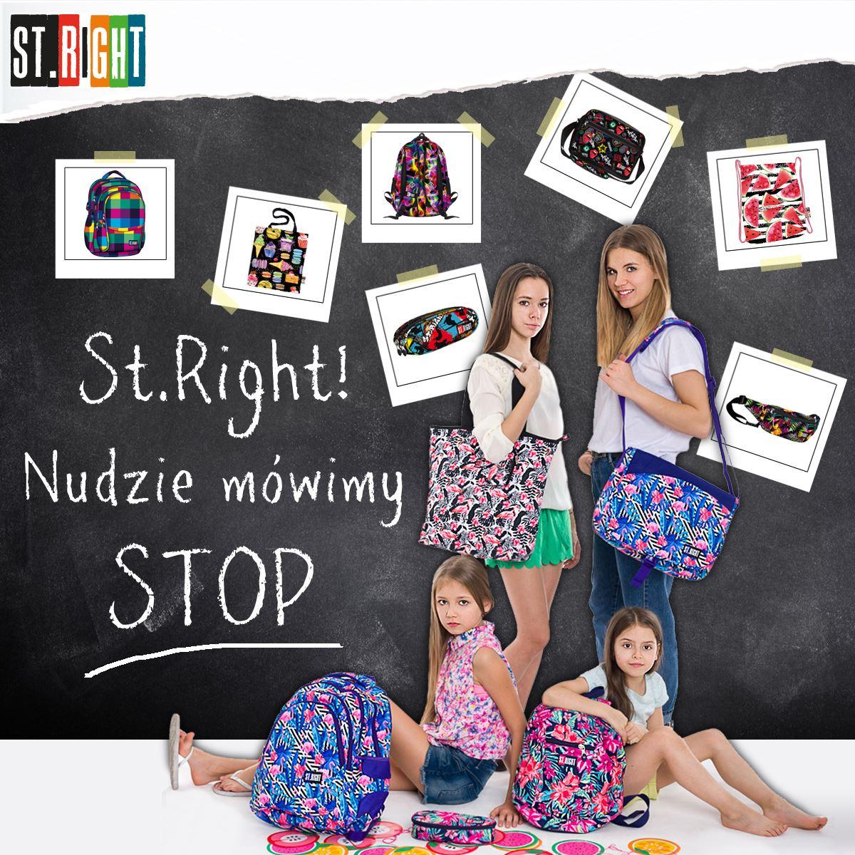 Nowa kolekcja plecaków i akcesoriów ST.RIGHT dla młodzieży