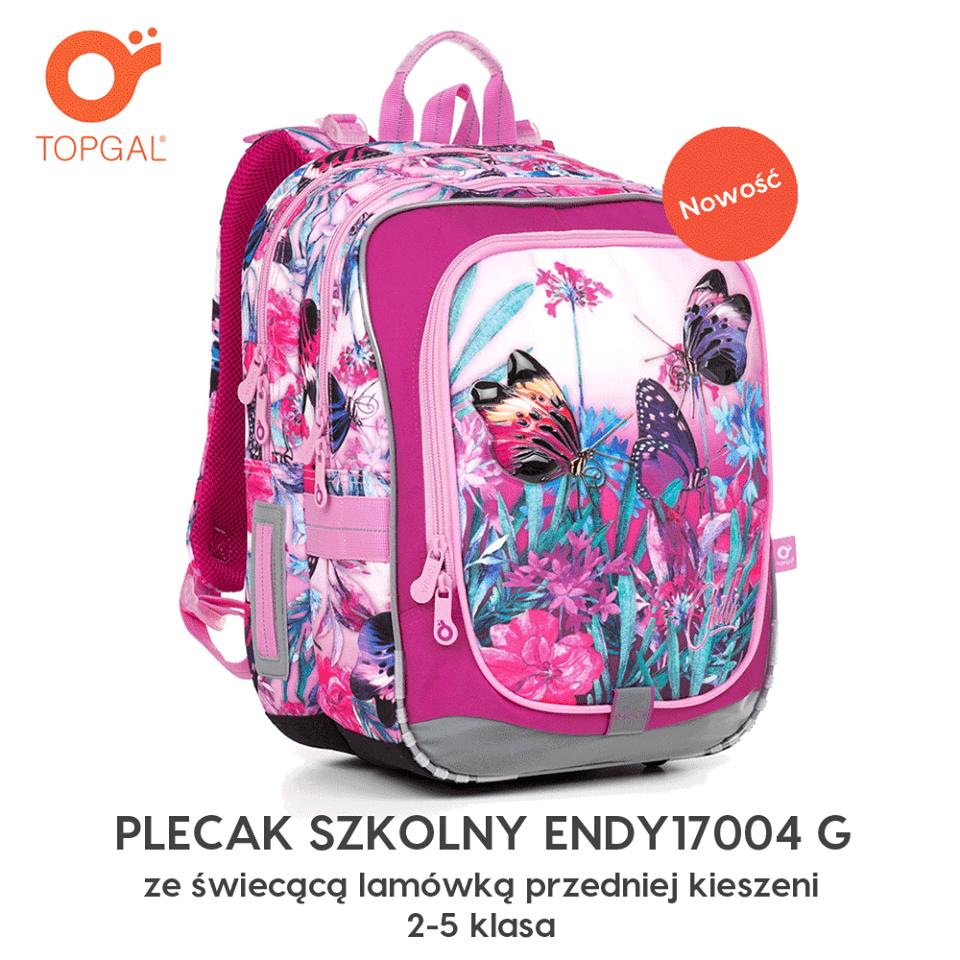 Nowa kolekcja plecaków szkolnych Topgal - nowość - świecące plecaki!